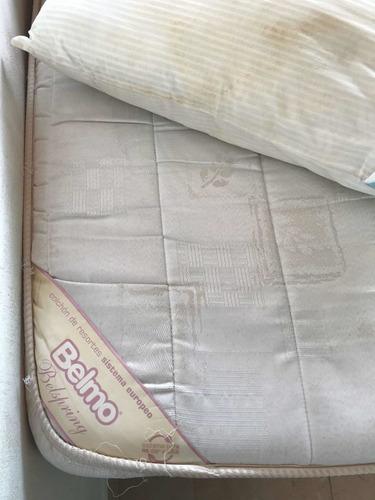 sommier con colchón belmo . 1,4 x 1,9