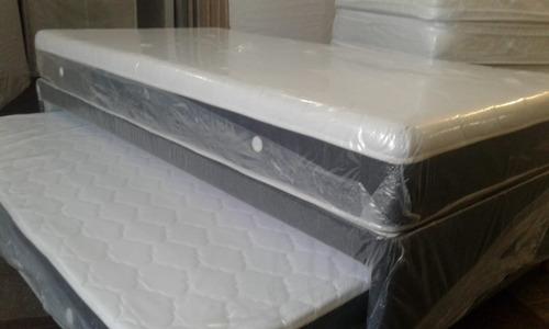 sommier  divan  carro cama  dual 1 1/2 plaza y media