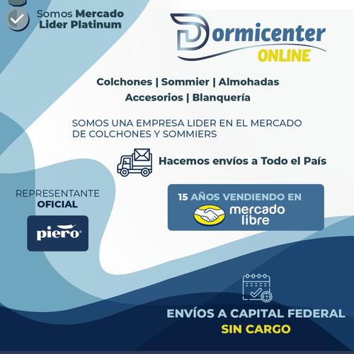 sommier piero continental 2 plazas 190 x 130 resortes