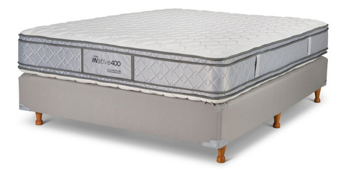 sommier queen 140x190 resortes native 400 la cardeuse
