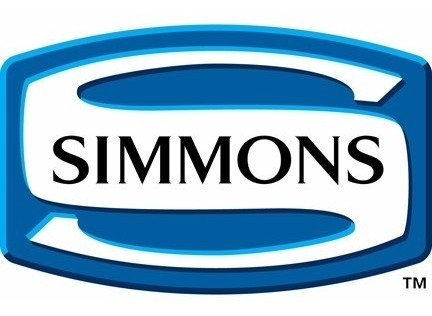 sommier simmons beautyrest recharge classic de 1,40 x 1,90