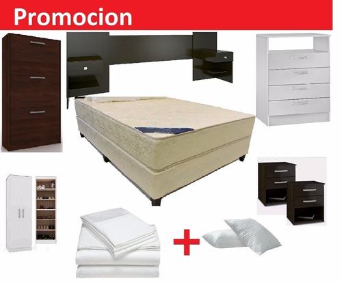 Sommier somier de 2 plazas classicfom polyfom de resortes for Classic muebles uruguay