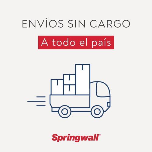 sommier springwall 129 baulera + colchón 317 king 180 x 200