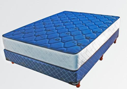 sommier y colchón 2 plazas alta densidad plus envío gratis!!