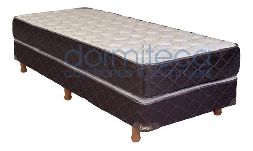 sommier y colchón alta densidad 1 plaza 80x190 - 30kg/m3