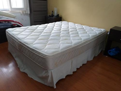 sommier y colchón belmo 2 plazas usado (1,50x1,90)