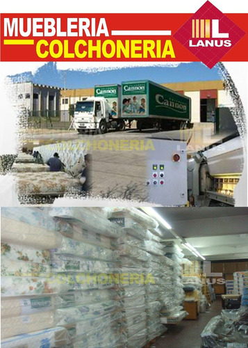 sommier y colchon cannon doral 2 plazas 140x190 envio gratis