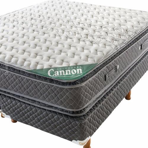 sommier y colchon cannon doral pillow 140x190 + 2 almohadas