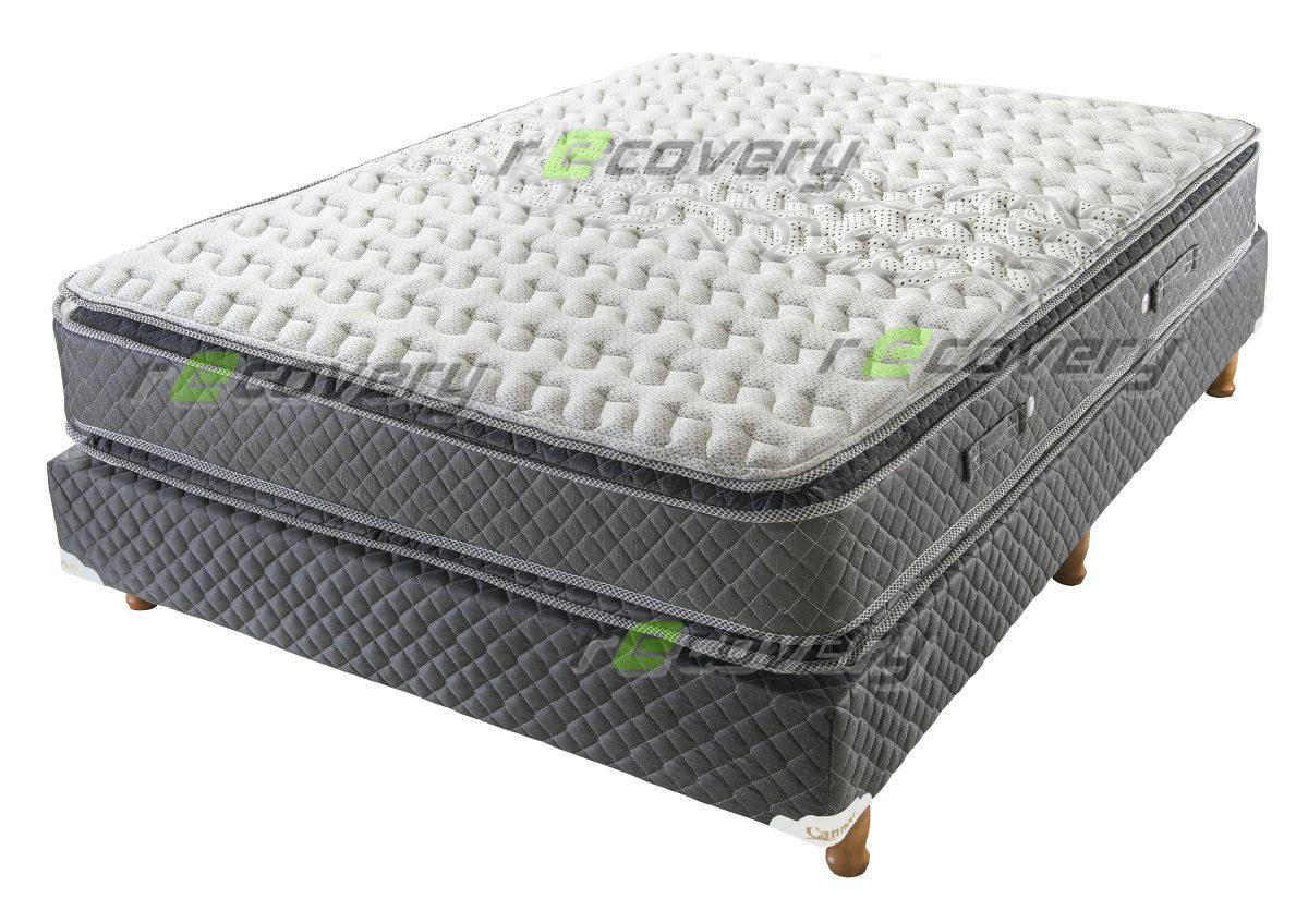 Sommier Y Colchon Cannon Doral Pillow 2 Plaza 190x140 Oferta ...
