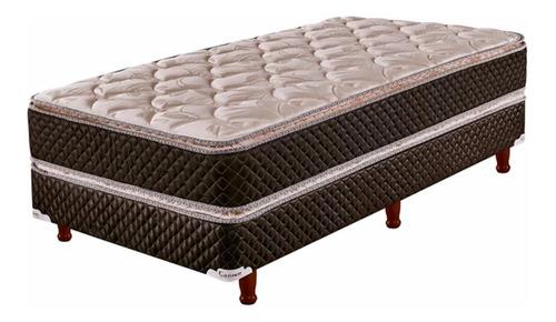sommier y colchon cannon exclusive pillow 100 x 190 + 1 almohada de regalo + 1 cubre colchon + envio sin cargo a caba
