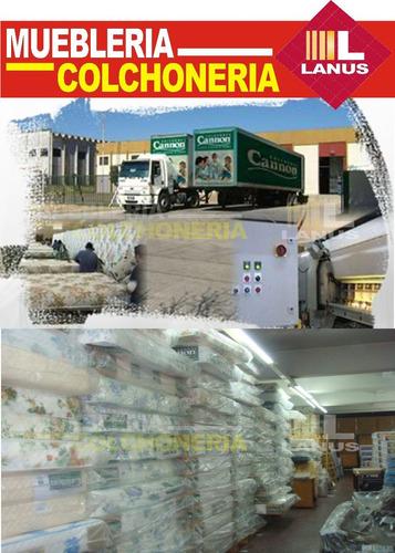 sommier y colchon cannon renovation 35kg densidad 80x190