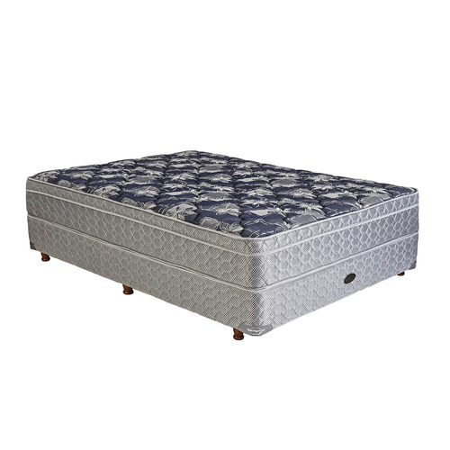 sommier y colchón de resortes springwall mcb115 140 x 190 cm