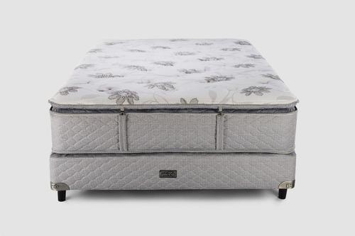 sommier y colchón piero ámbar 2 plazas pillow desmontable