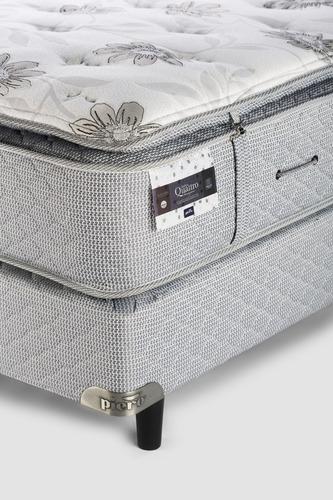 sommier y colchón piero ámbar 200x180 pillow desmontable