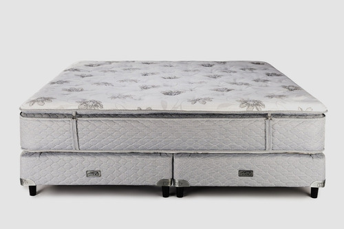 sommier y colchón piero ámbar 200x200 pillow desmontable