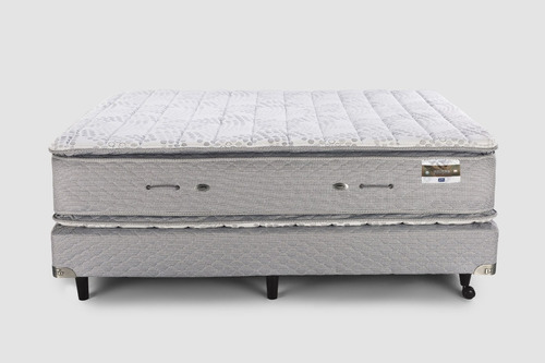 sommier y colchón piero montreaux pillow 190x150 resortes