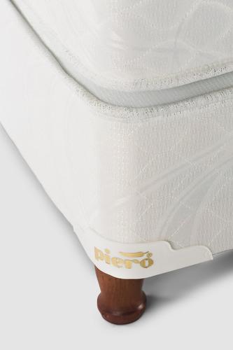 sommier y colchón piero nirvana 190x130 alta densidad