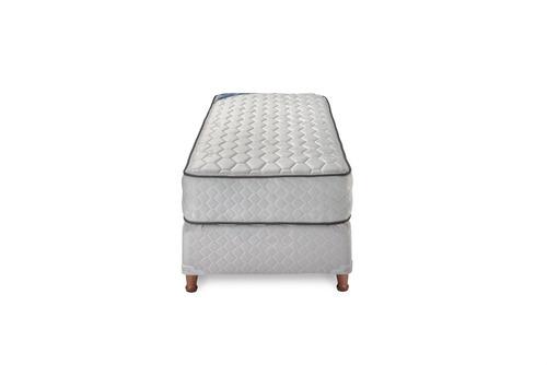 sommier y colchón piero sonno 1 1/2 plaza 190x90 resortes
