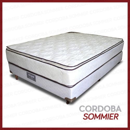 sommier y colchón sevilla bonnell con pillow 80 x 190 cm.