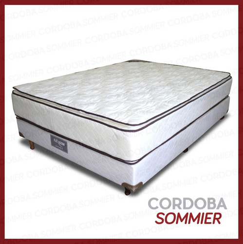 sommier y colchón valencia con pillow 150 x 200 cm. flexigom