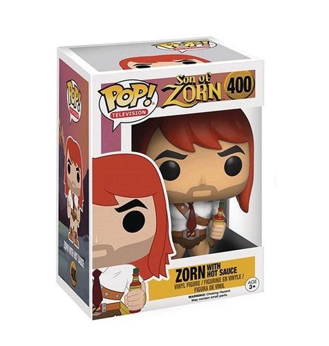 son of zorn - zorn with hot sauce - funko pop! - robot negro