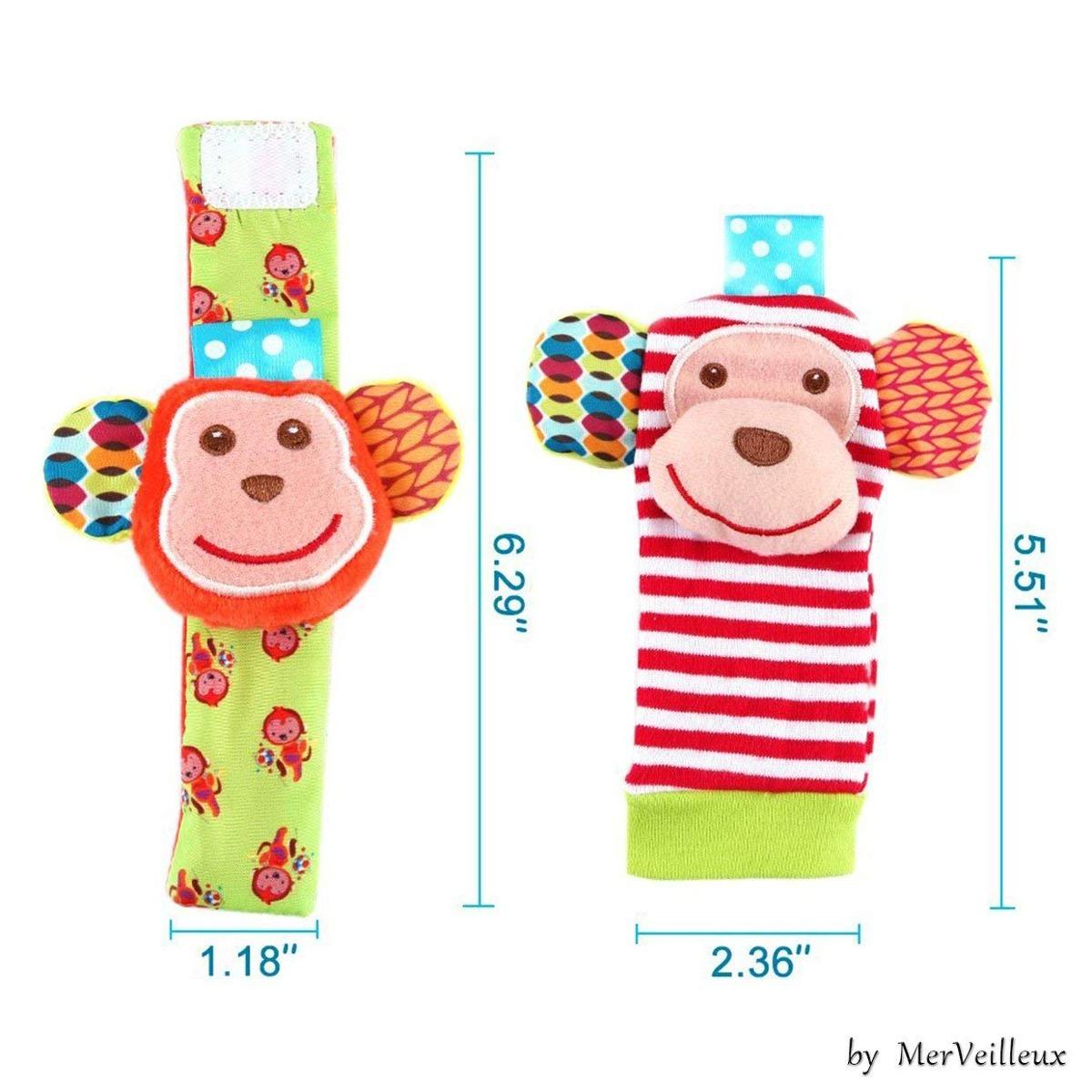 Sonaja Elefante Y Mono Para Muñecas Y Pies De Bebé - $ 999,999.00 en ...