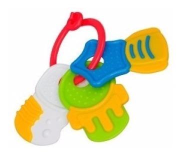 sonajero bebe juguete didactico llaves de colores cuotas