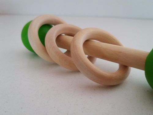 sonajero de madera didáctico, pedagogía montessori / waldorf