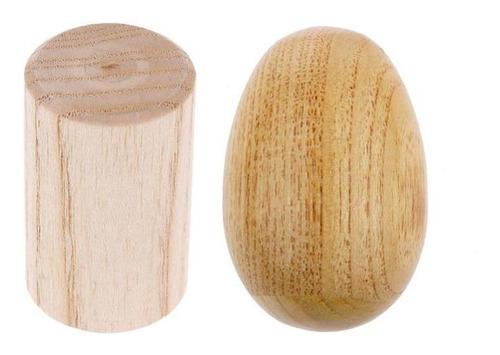 sonajero de madera estilo hu + cilíndrico maraca shaker
