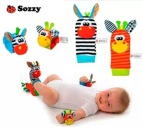 sonajero estimulación medias y muñequeras bebé