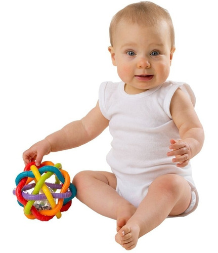 sonajero mordillo bebé playgro esfera bendy ball