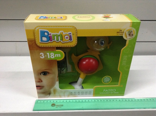 sonajero patito con sopapa bimbi bebe july toys