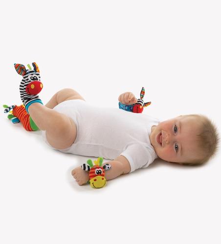 sonajero titeres manos y pies para bebe playgro