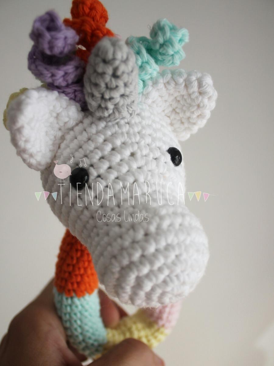 Sonajero Unicornio Crochet Hilo Bebes - $ 330,00 en Mercado Libre