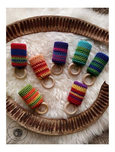 sonajeros de hilo y madera - hecho a mano