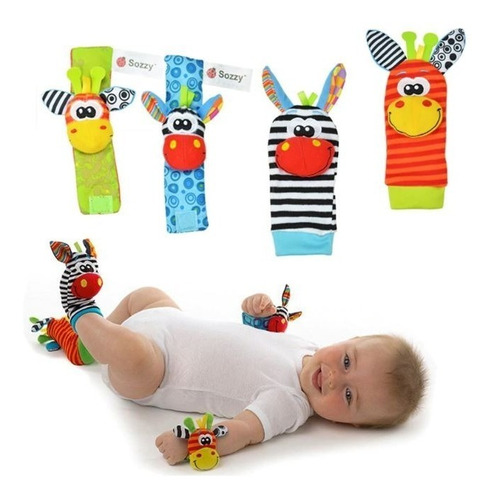 sonajeros estimulacion temprana bebes medias pulseras