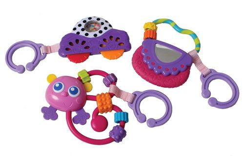 sonajeros mordillos rattle pack playgro 0185290 babymovil