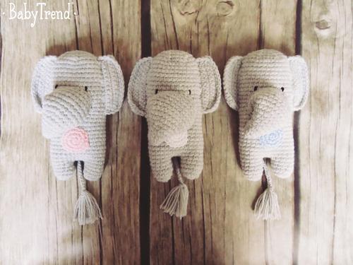 sonajeros tejidos - muñecos artesanales - bebés - amigurumis