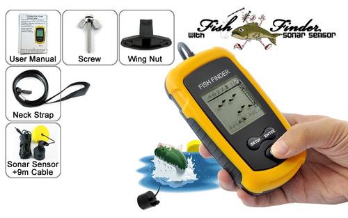 sonar detector de peces lcd portátil marca fishfinder