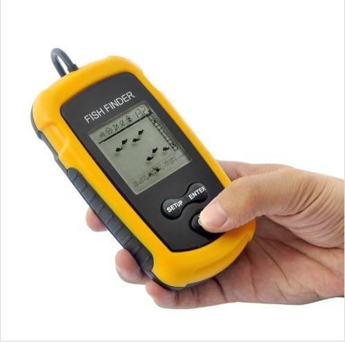 sonar detector de peces pesca lcd marca fishfinder