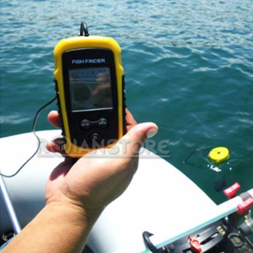 sonar ecosonda portatil de pesca buscador de peces 100m