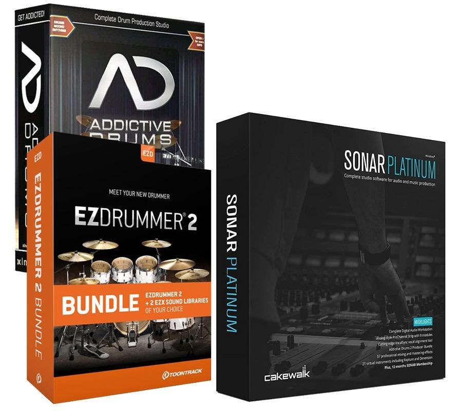 Sonar Platinum 23 | Addictive Drums 2 | Ezdrummer 2 | Pc