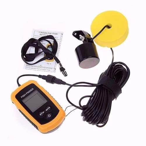 sonar portátil para pesca fish finder com sonda ultra-sônica