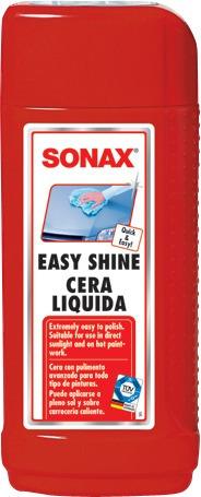 sonax easy shine cera liquida 250 ml
