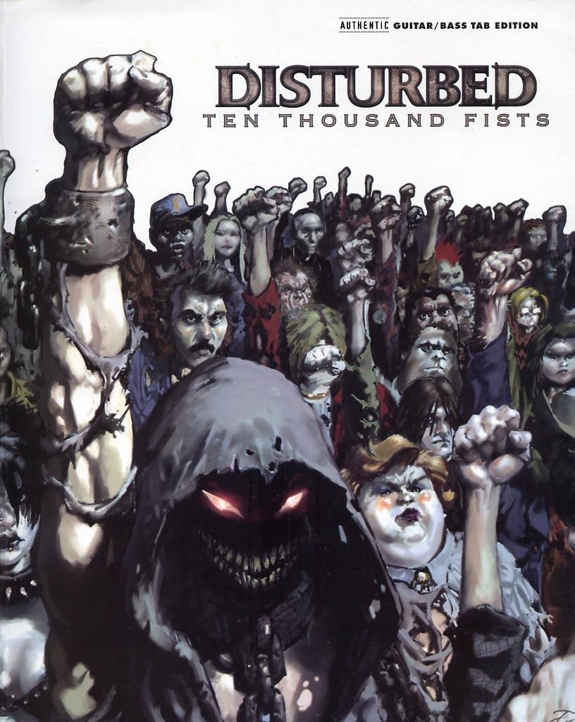 Disturbed ten thousand fists helmet textile star doodle png.