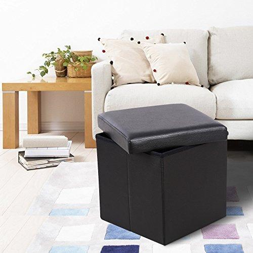 Asombroso Cuadrados De Cuero Muebles Otomana Bosquejo - Muebles Para ...