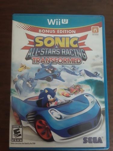 sonic all stars racing transformed. juego wii u.