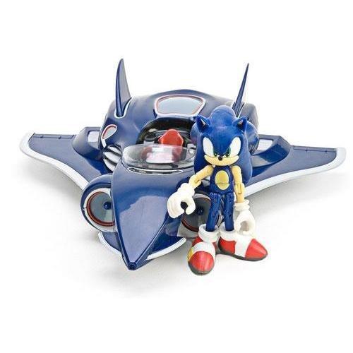 sonic figura con avión all-stars racing transformed sega