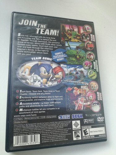 sonic heroes playstation 2 ps2