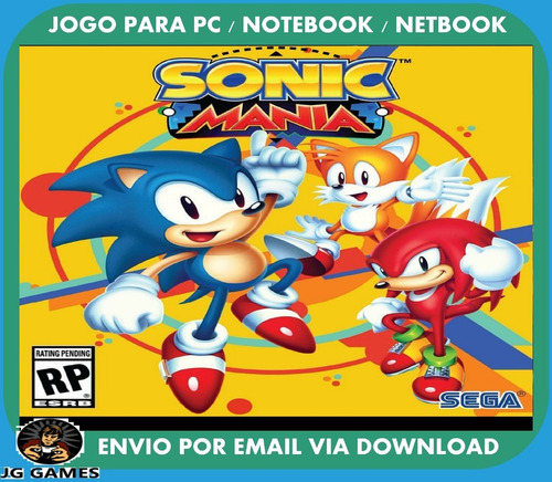sonic mania pc jogo digital